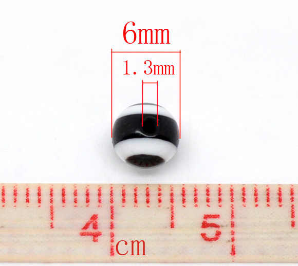 "DoreenBeads 2017 新しいジュエリー樹脂スペーサアイパターン約 6 ミリメートル (2/8 "") 径、穴: 約 1.3 ミリメートル、 25 ピース"