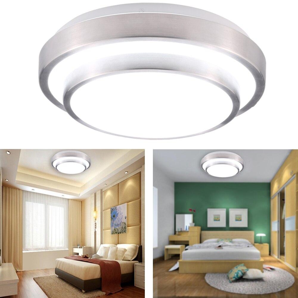 15w 110 240v led flush mount ceiling light modern contemporary lamp fixture 1200lm 6000k for living roombedroomdining room