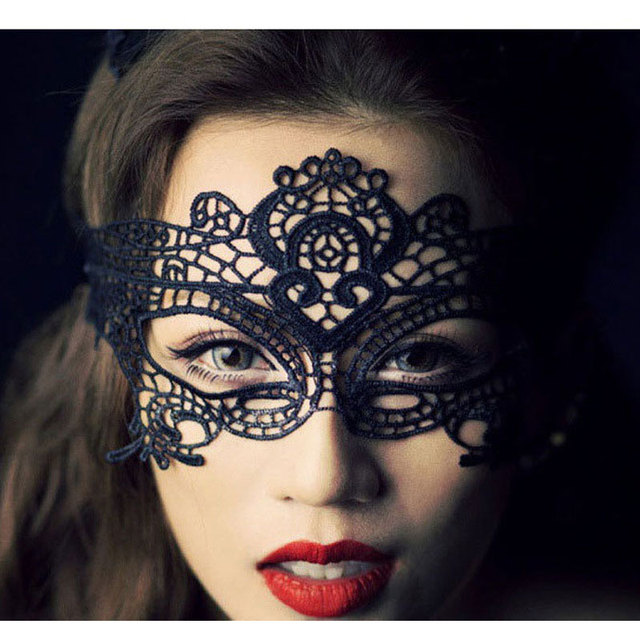 halloween costumes girl women black sexy lace mask masquerade party dance face mask for women - Halloween Costumes With A Masquerade Mask