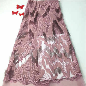 New French Nigerian Sequins Net Lace African velvet tulle mesh Sequence lace fabric high quality for wedding dress 5yards/lot - DISCOUNT ITEM  20 OFF Home & Garden