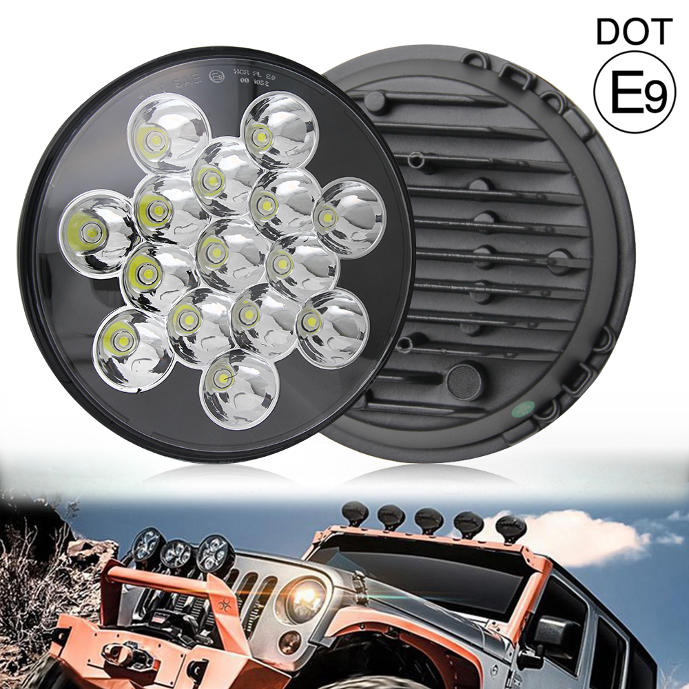 COLIGHT 45W 30W 7inch Car Led Headlight Led 12V Hi/Lo Beam DRL Led Auto Headlight for Jeep Wrangler Hummer Kia Lada 4x4 Off road 2pcs new design 7inch 78w hi lo beam headlamp 7 led headlight for wrangler round 78w led headlights with drl