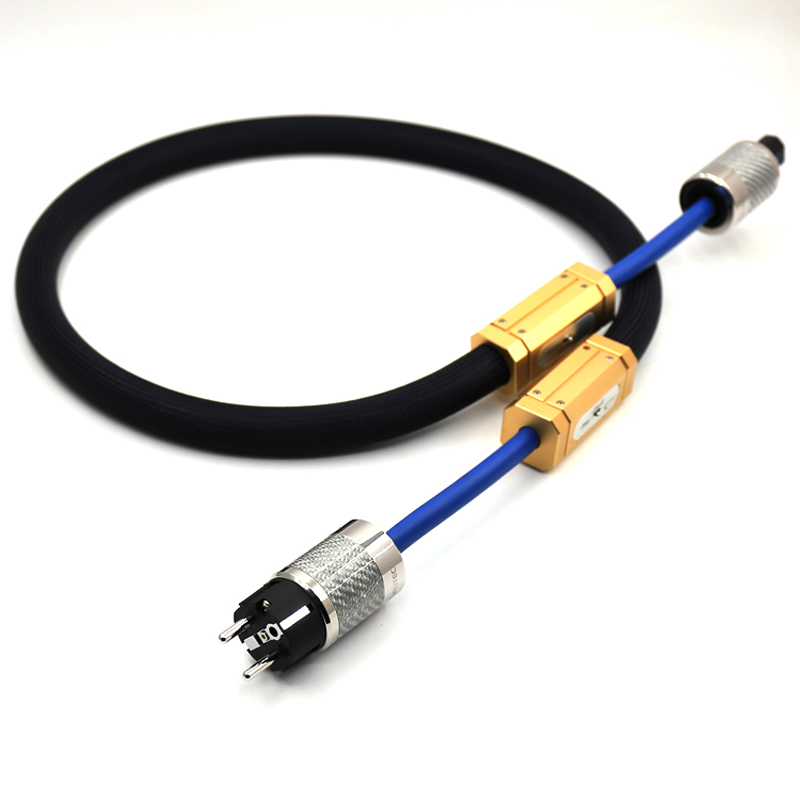 Free shipping moonsaudio triple crown power cable power cord FURUTECH FI-E50 NCF(R) EU version plugs furutech fi e30 ncf r