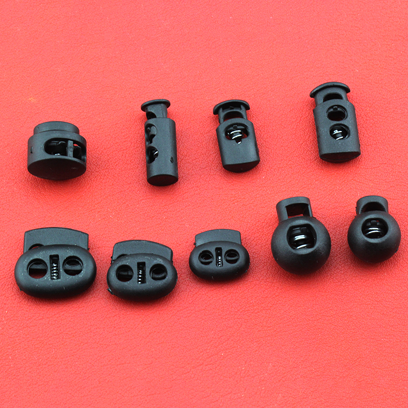 Черная Пружинная Застежка на шнур, пластиковая, 10 шт.|Стоппер| | АлиЭкспресс