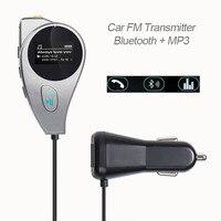 Gakaki車のbluetoothキットスピーカーワイヤレスハンズフリーfmトランスミッターmp3プレーヤーauxポートfm変調器のusb充電器スマート電