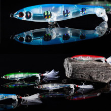 Купить с кэшбэком 2019 Fishing Lures 9CM 13.5g Crystal Fishing Lures 3D Eyes Bait Crankbait Wobblers Isca Poper Pesca Japan FishingTackle Baubles
