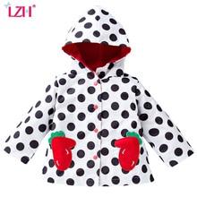 LZH 2017 Automne Filles Veste Pour Les Filles Fraise Brodé Imperméable Manteau Pour Garçons Veste Enfants Survêtement Manteau Enfants Vêtements