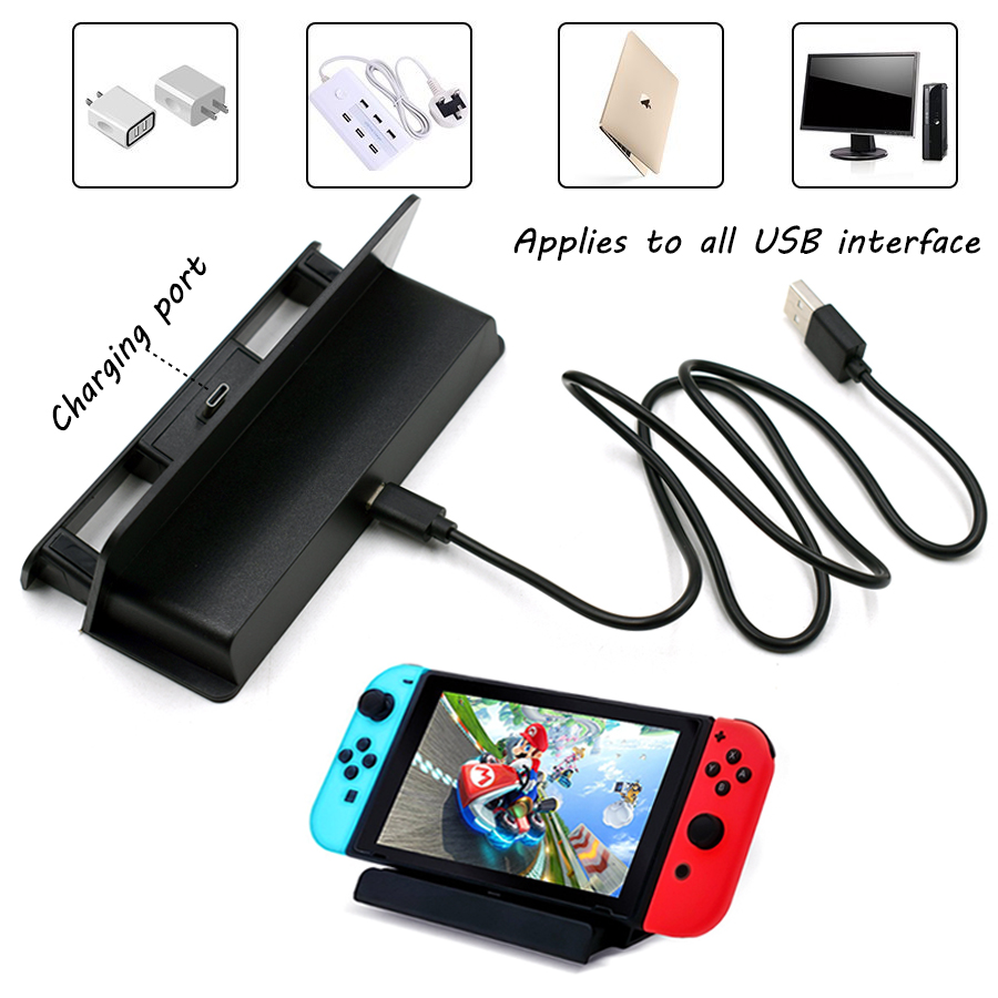 USB Charger Dock Stand for Nintend Switch NS Console USB Type-C Charging Station Holder for Nintendo Switch цена