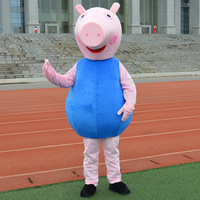 Red & Blue Cartoon pig Mascot Costumes Adult size Cartoon Halloween Carnival Costume