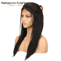 Rebecca 4x4 Lace Front Human Hair Wigs For Women Brazilian Remy Straight Hair Wig Natural Balck 10 14 18 20 Inch Free Shipping
