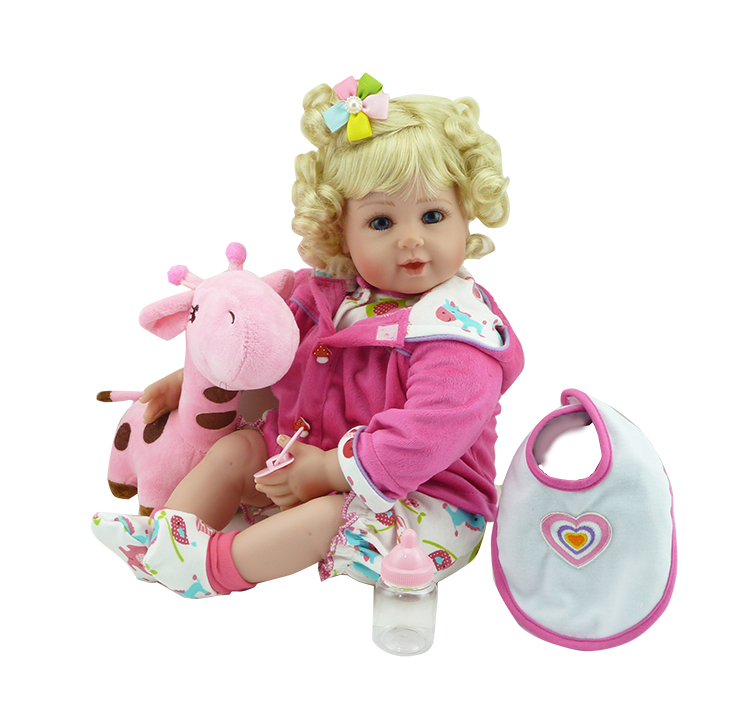 ᑎ 50cm Soft Silicone Reborn Baby Doll Toys Lovely Princess Babies