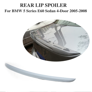 Rear Trunk Automotive Boot Spoiler Sticker For BMW 5 Series E60 Sedan 4-Door 2005-2008 Unpainted Grey PU Car Tuning Parts image