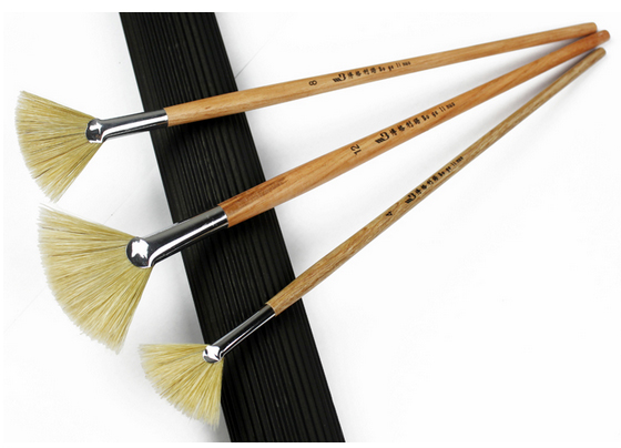 3pcslot watercolor oil art paint brush pig hair soft painting brush acrylic painting brush for artist easy to clean ahb029 in paint brushes from home acryclic painting soft