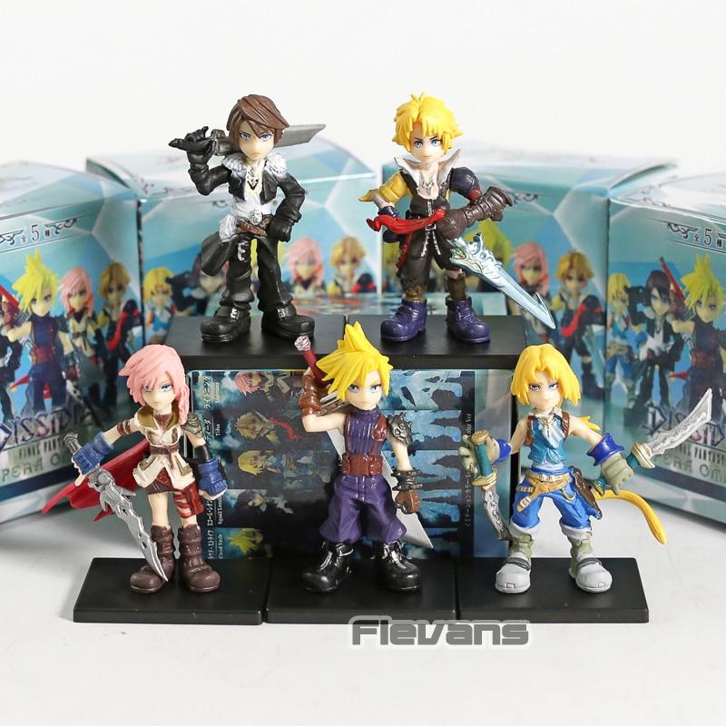 Dissidia Final Fantasy Lightning Cloud Tidus Squall Zidane Mini PVC Figures Collectible Model Toys 5pcs/set