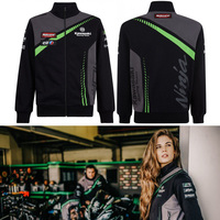 New motorcycle Sweatshirt clothing jacket sweater Riding sportswear stand collar knight costume locomotive Kawasaki