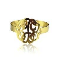 Personalized Monogram Bracelet 1 6 Inch Gold Custom Monogrammed Name Necklace Hand Painted 3 Initials Bracelet