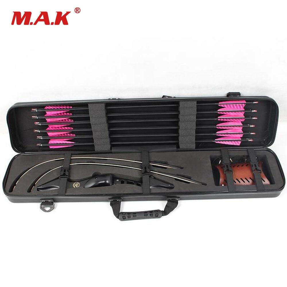 95*18*12 cm caja de arco recurvo ABS caja de plástico duro traje todo accesorio de arco recurvo para tiro con arco de caza