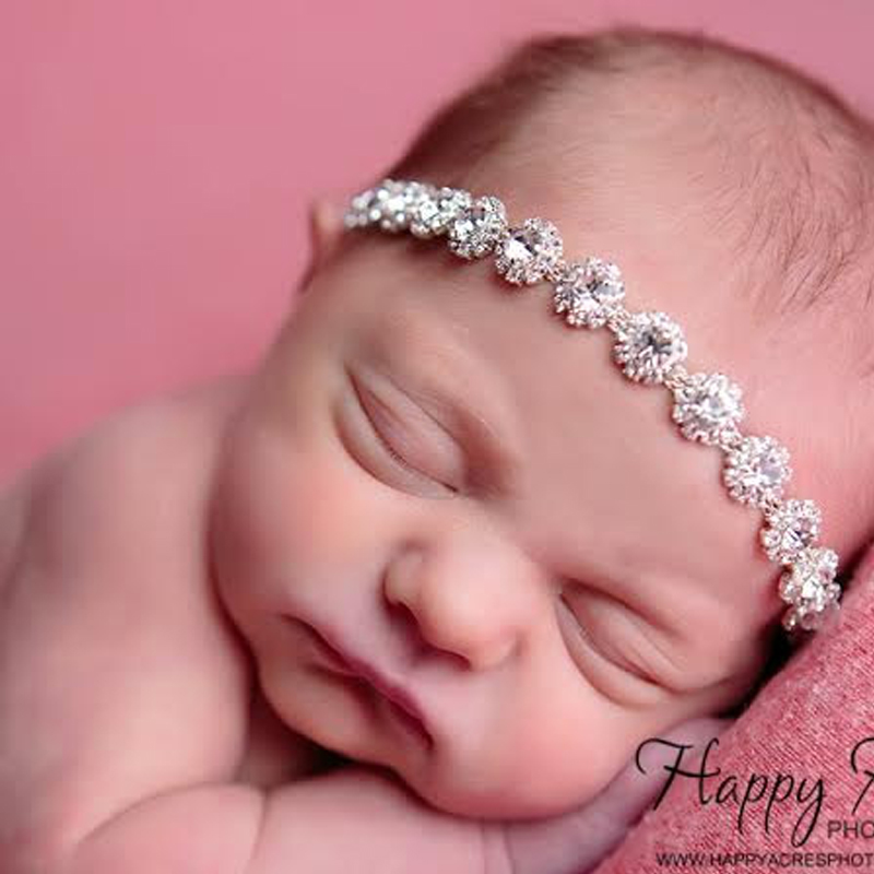 Kids Hair Accessories Photography Prop Baby Christmas Rhinestone Halo Vintage Headband Newborn Headbands Bling Band