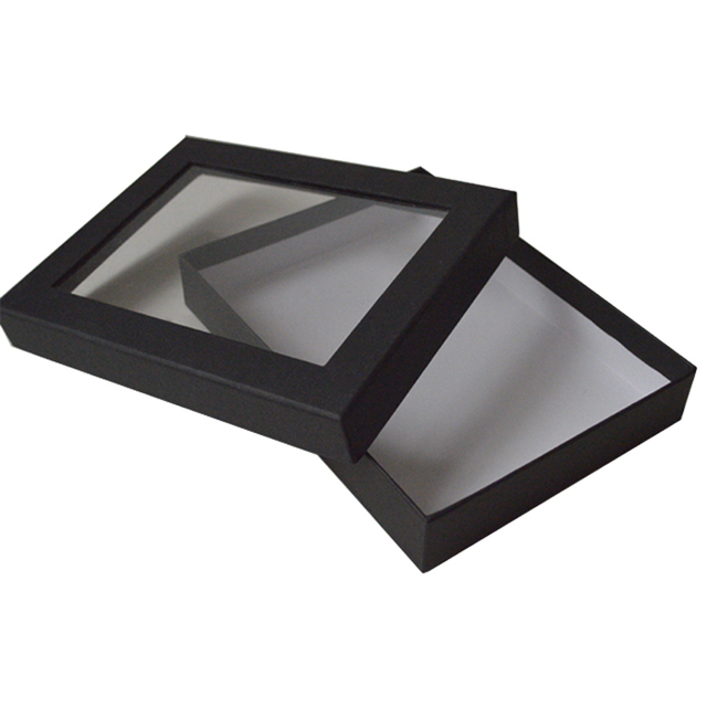 Clear Lid Hard Paperboard Box Window Cardboard Box For Package Scarv