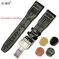 22mm correas de Reloj de Oro Rosa de Oro de Plata Para Hombre Negro Marrón Hombres Italia Reloj de Cuero Genuino Correa de La Banda Para Iwcwatch Manual bandas