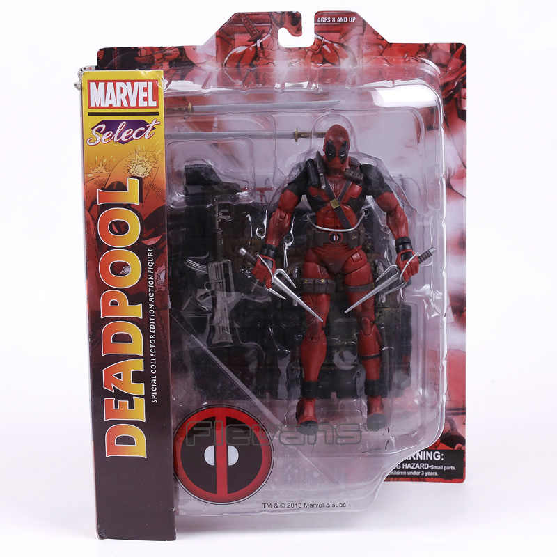 Marvel Select Legends Univeres Wade Wilson Deadpool Action Figure Modelo Toy 18 cm