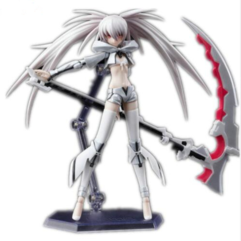 Anime figure Black Rock Shooter Hatsune PVC Action figure WHITk Shooter figma Hatsune Miku Collection TOY model RETIAL BOX H12 hot game anime insane black rock shooter 1 8 scale huge 40cm action figure