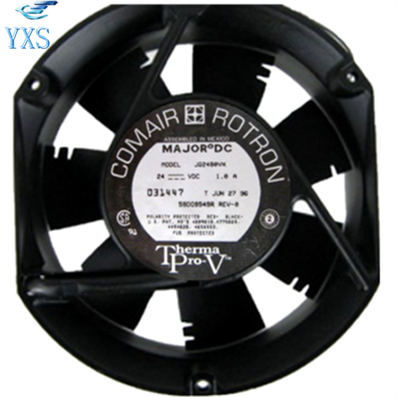 JQ24B0VX DC 24V 1A 24W 3350RPM 2 Wires 17250 17cm 172*150*50mm Double Ball Bearing Cooling Fan anet dc 24v cooling fan ball bearing for