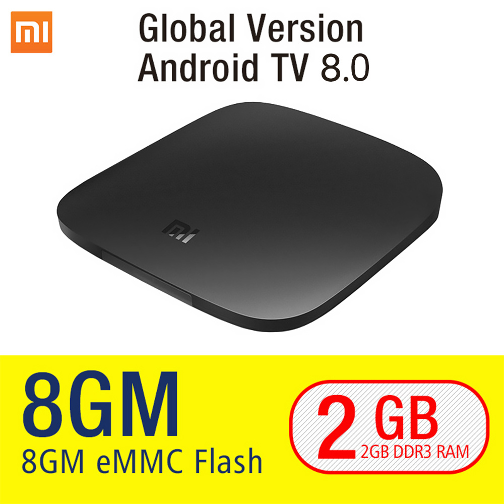 Image 2 - Xiaomi MI BOX 3 Android 8.0 Smart WIFI Bluetooth 4K HDR H.265 Set top Box Youtube Netflix DTS IPTV Media Player Xiaomi MI Box 3-in Set-top Boxes from Consumer Electronics