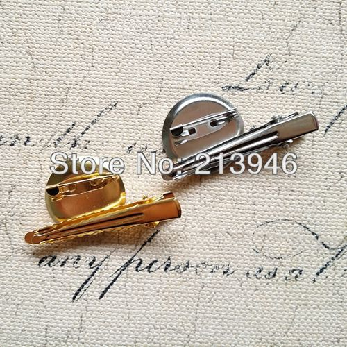 23mm 50Pcs/Pack Dual Brooch Back Base With Clip & Safety Pin For Jewelry Findings Accessories