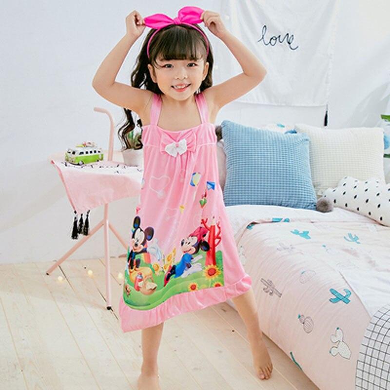 Kinder Kleidung Sommer Mädchen Baby Pyjamas Baumwolle Prinzessin Nachthemd Kinder Hause Cltohing Mädchen Bogen Nachtwäsche Kinder Nette Nachthemd