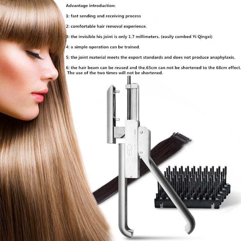 6D Hair Extension Tool Professional Salon Equipment for Faster Hair Extension Treatments Increase Volume and Length Technology ...