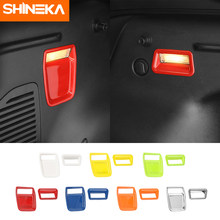 SHINEKA Aluminum alloy Car Rear Tail Trunk Box Light Lamp Decoration Cover Stickers Accessories For Jeep Renegade 2016 Up(China)