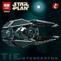 Nuevo 703 unids Lepin 05044 Star Wars Serie de Edición Limitada de La TIE Interceptor Building Blocks Ladrillos Modelo Juguetes 7181 Niños regalos