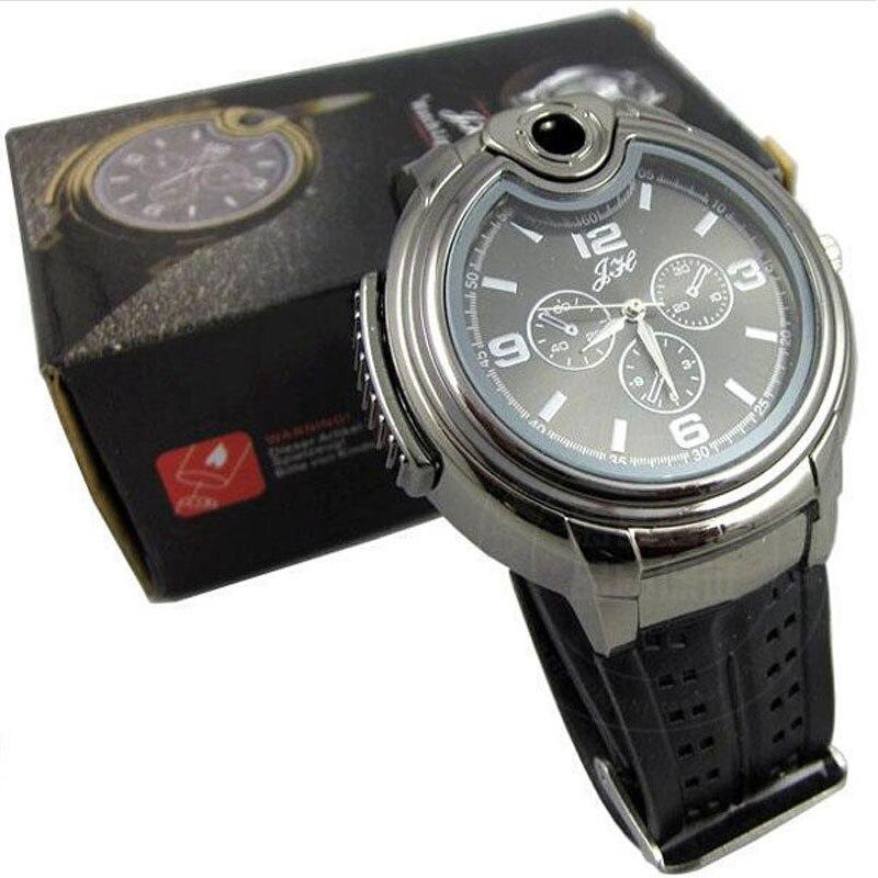 Milky  New Military Lighter Watch Men Quartz Refillable Butane Gas Cigar Watches Relojes  DEC27 фен elchim 8th sense milky mint 03082 05
