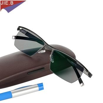 2019 Men Style Titanium Alloy Quality Photochromic  Presbyopia Men's Glasses Fashion Square half Rim Classic Reading for - discount item  53% OFF Eyewear & Accessories