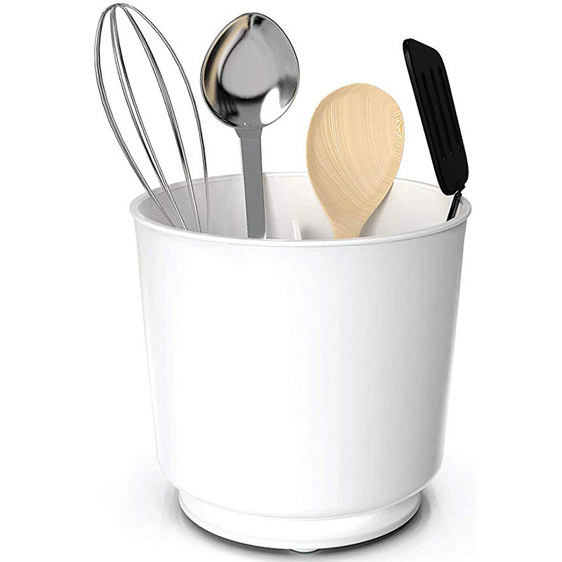 Image 4 - Rotating Utensil Holder utensils Caddy with No Tip Weighted Base Removable Divider And Gripped Insert  Rust Proof and Dishwashe-in Bottles,Jars & Boxes from Home & Garden