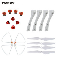 TOMLOV For Syma X8SC X8SW RC Drone Landing Gear+Protector Frame+Propellers+Propellers Cover+Spindle Sleeve Spare Parts