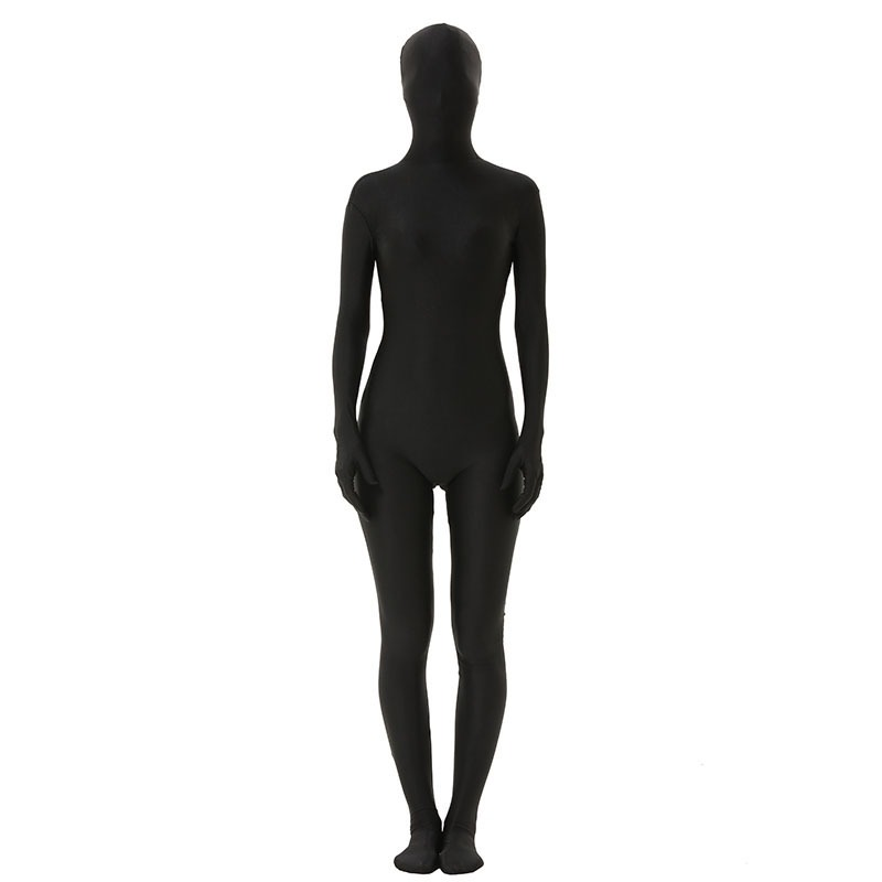 0670422be74 Zentai Costumes Full Body Spandex Cosplay Clothes Skin Suit Catsuit  Halloween Costumes Adult Bodysuit Unisex Black