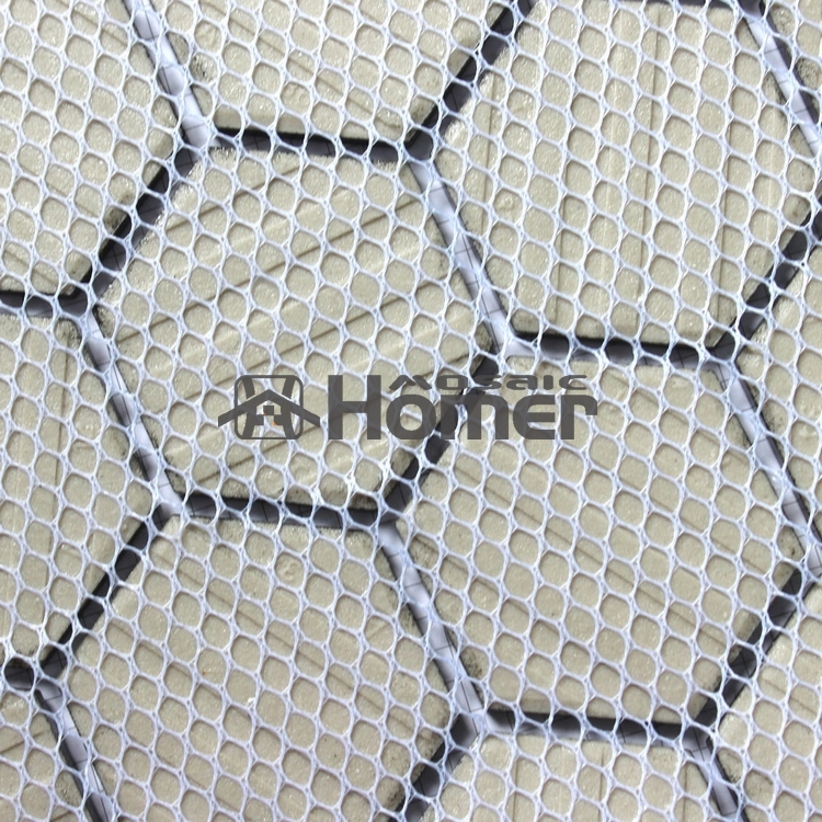 Aliexpress Shipping Free Hexagon Black Ceramic Mosaic Bathroom Shower Tiles Floor Mesh Backing Kitchen Tile From