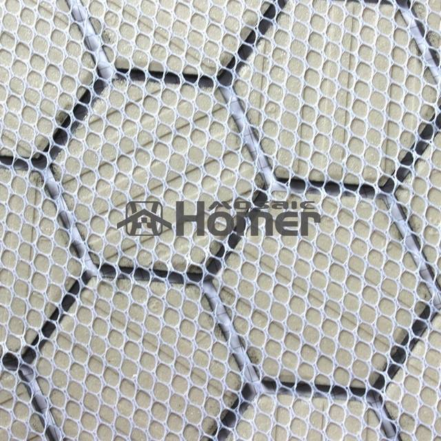 Shipping Free Hexagon Black Ceramic Mosaic Bathroom Shower Tiles Floor Mesh
