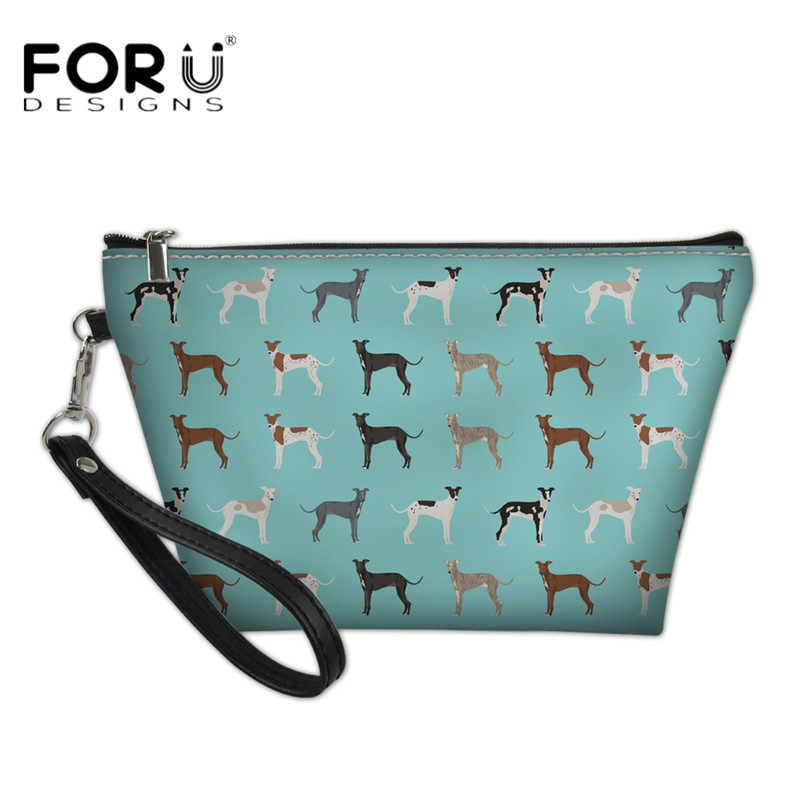 e3c18bef34f1 FORUDESIGNS Leather Cosmetic Cases Greyhound Pattern Women Luxury Makeup  Bags Fashion Ladies Girls Casual Travel Organizer Pouch-in Cosmetic Bags    Cases ...