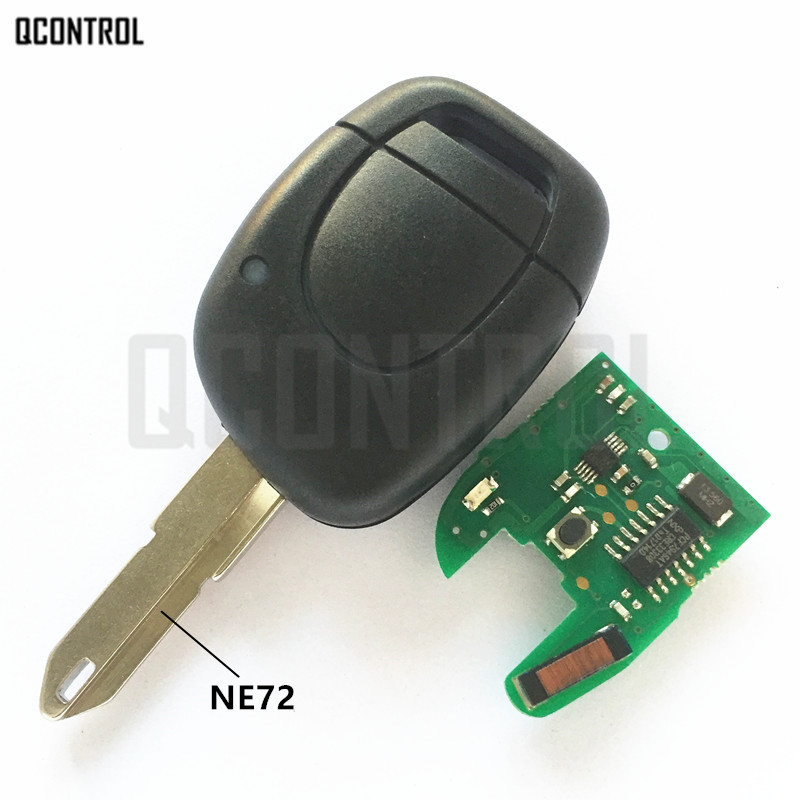 QCONTROL Car Remote Key Fit for Renault Master Kangoo Clio Twingo NE72 Blade PCF7946 Chip 433MHZ(China)