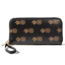 ФОТО artmi women wristlet lady credit card holder leather cash wallet rfid blocking zipper around clutch purse with phone compartment