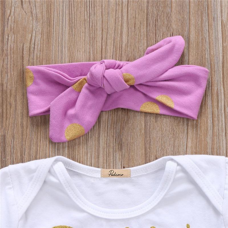0 to 24M Newborn Infant Baby Girls Clothes Short Sleeve Romper Jumpsuit +Short Pants 3PCS Baby Clothing Set