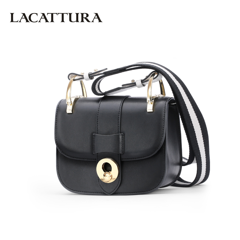 LACATTURA Luxury Handbag Women Designer Leather Shoulder Bag Fashion Messenger Bags Small Candy Clutch luxury genuine leather bag fashion brand designer women handbag cowhide leather shoulder composite bag casual totes