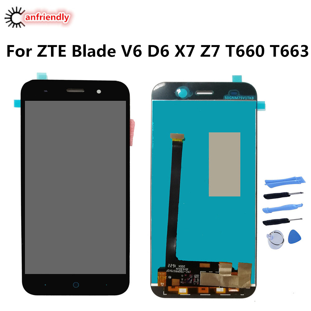 For <font><b>ZTE</b></font> Blade V6 D6 X7 Z7 <font><b>T660</b></font> T663 LCD Display+Touch Screen Replacment Digitizer Assembly Phone Panel Glass For <font><b>ZTE</b></font> V6 D6 X7 Z7 image