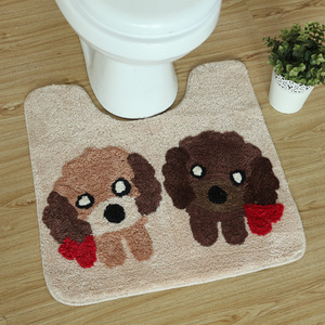 Image 5 - 3Pcs/set Winter Thicken Warmer Washable Toilet Set Bath Mat Cartoon Toilet Seat Cover & Rug Bathroom Toilet Seat Cushion Sets