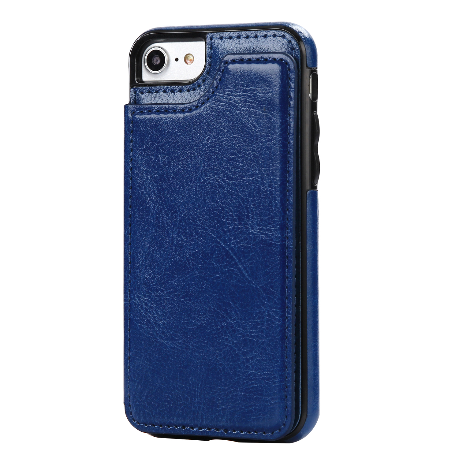 Pu Leather Wallet Card Slot Case for Iphone X 7 7plus Business Card ...