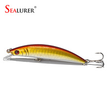 SEALURER 1pcs  8CM/8.2g Fishing Lures Pike Fishing Bait Minnow Bass Floating Perch Lure Fishing Tackle