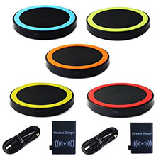 Top Sale 1 Set Qi Wireless Power Charger+Receiver Kit for Samsung Galaxy S3 III i9300 (Blue/Yellow/Orange/Green/Red)