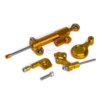 New Arrival Gold CNC Steering Damper Stabilizer and Bracket For Yamaha YZF-R1 09-12 YZF-R6 06-15